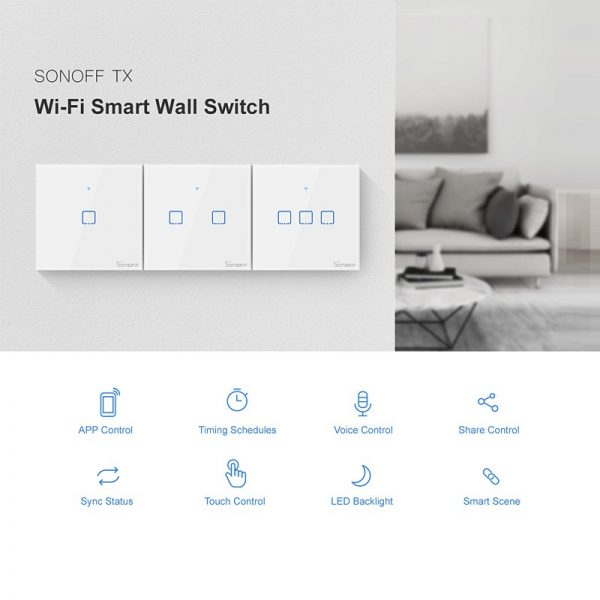 SONOFF TX – T2 Wi-Fi елегантен и луксозен смарт ключ - Sonoff-TX-Wi-Fi-Smart-Wall-Touch-T2