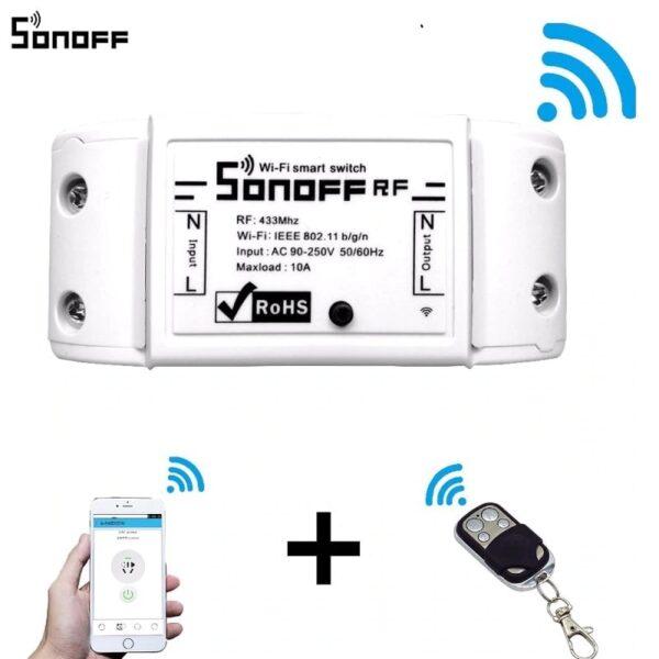 Sonoff RF 433MHz 4 каналa - дистанционно за отдалечено управление | sonoff basic r2