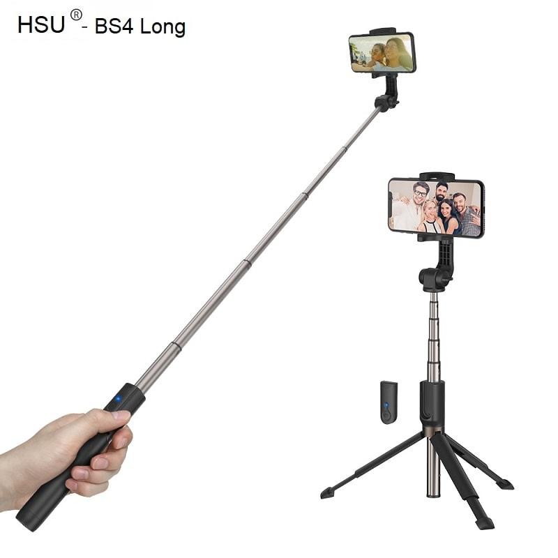 Селфи стик 3 в 1 HSU Long – до 88 см + опция трипод и Bluetooth дистанционно   iPhone /Android - HSU-3-in-1-Wireless-Bluetooth-Selfie-Stick-Mini-Tripod-long_004