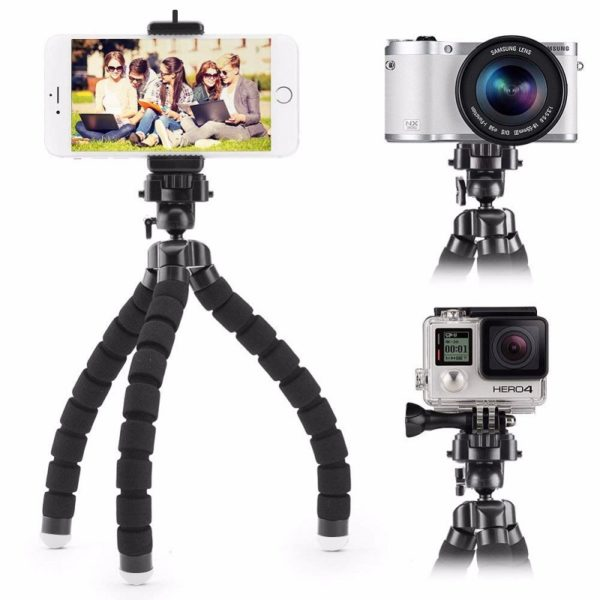 HSU Sport трипод - 20 см за смартфон и фотоапарат - HSU-flexible-octopus-tripod-for-phone-17-cm_04