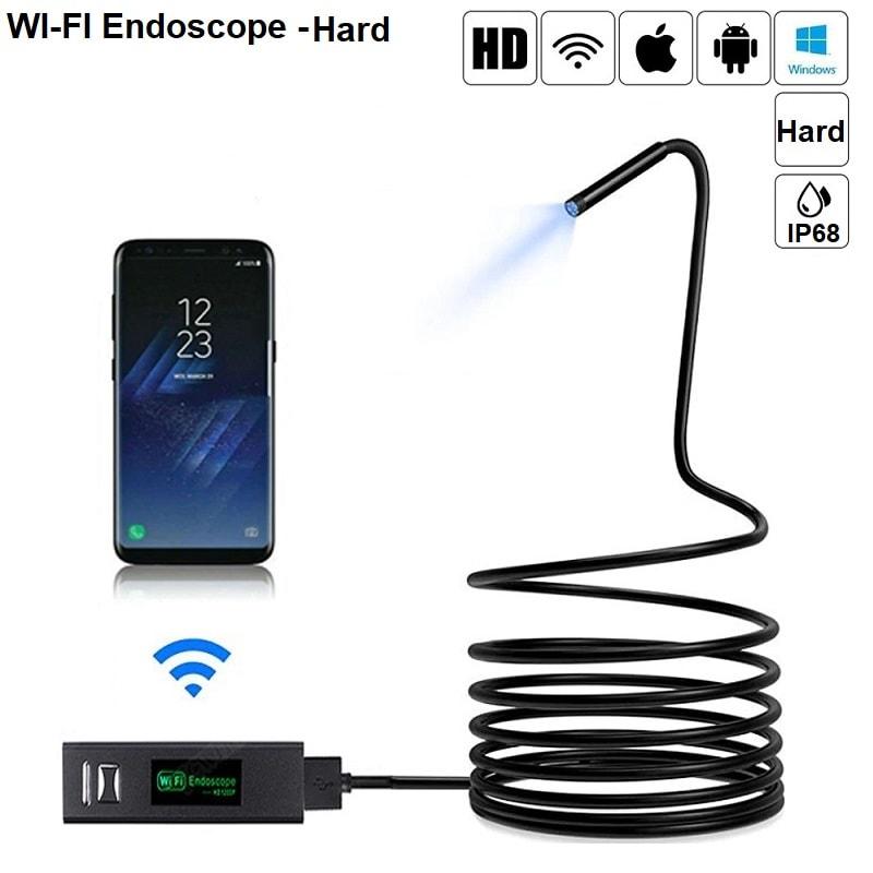WIFI Ендоскопска камера HARD | твърд кабел – HD 1200P – съвместим с Android | IOS Apple – IP68