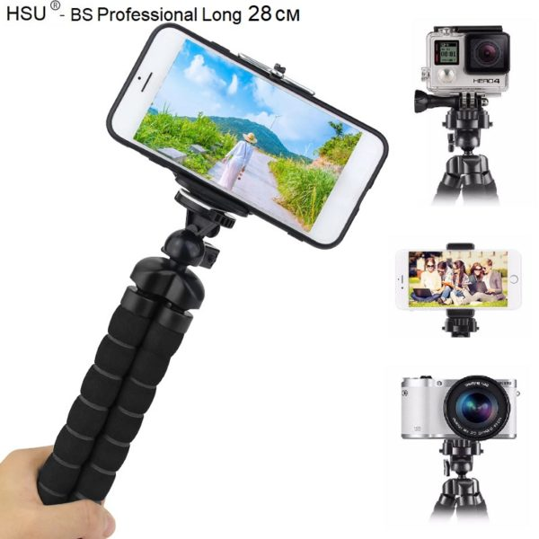 HSU Long Професионален трипод - 28 см за смартфон и фотоапарат - hsu-long-professional mini-tripod-28-cm