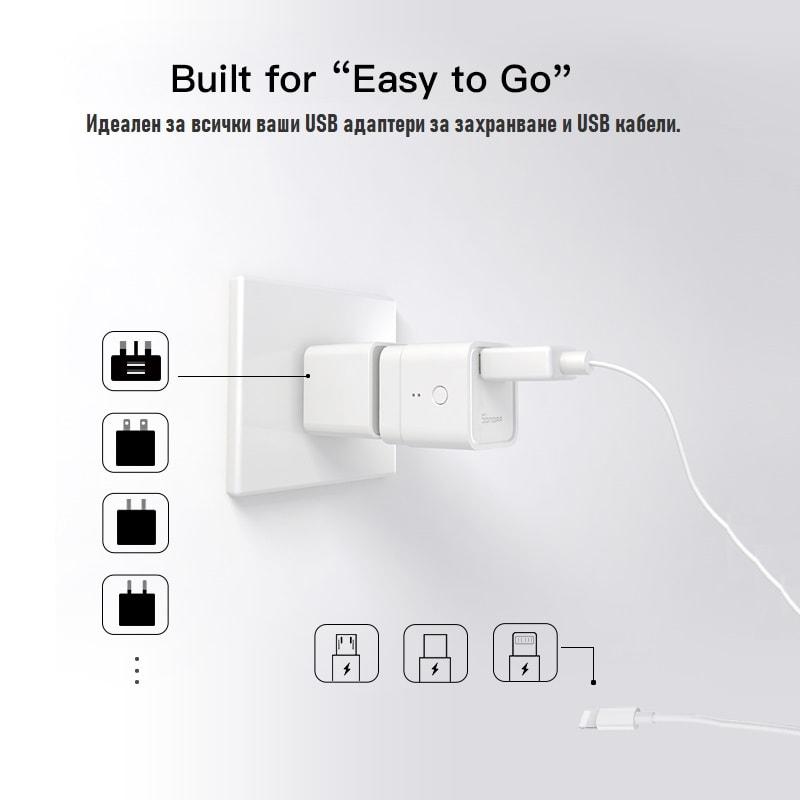 SONOFF Micro - 5V безжичен USB смарт адаптер - SONOFF Micro - 5V Wireless USB Smart Adaptor_00