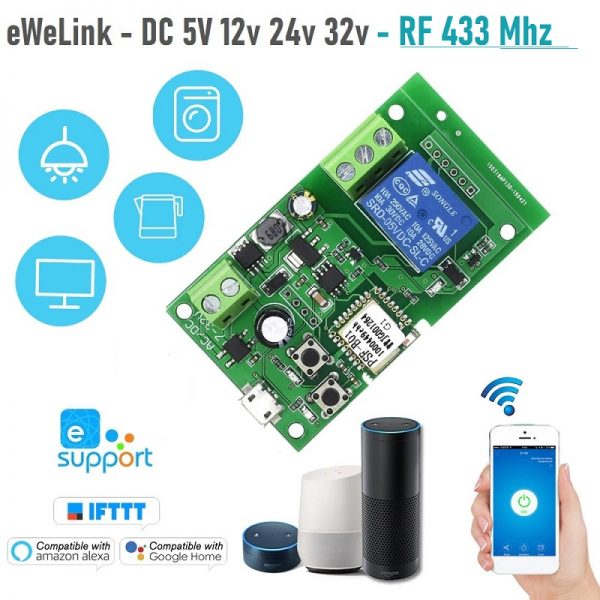 eWeLink wifi превключвател RF 433 Mhz DC 5V 12v 24v 32v + Inching | самозаключване - ewelink-wifi-switch-RF-433-Mhz-dc-5v-12v-24v-32v-inching-self-locking-wireless-relay-module_00
